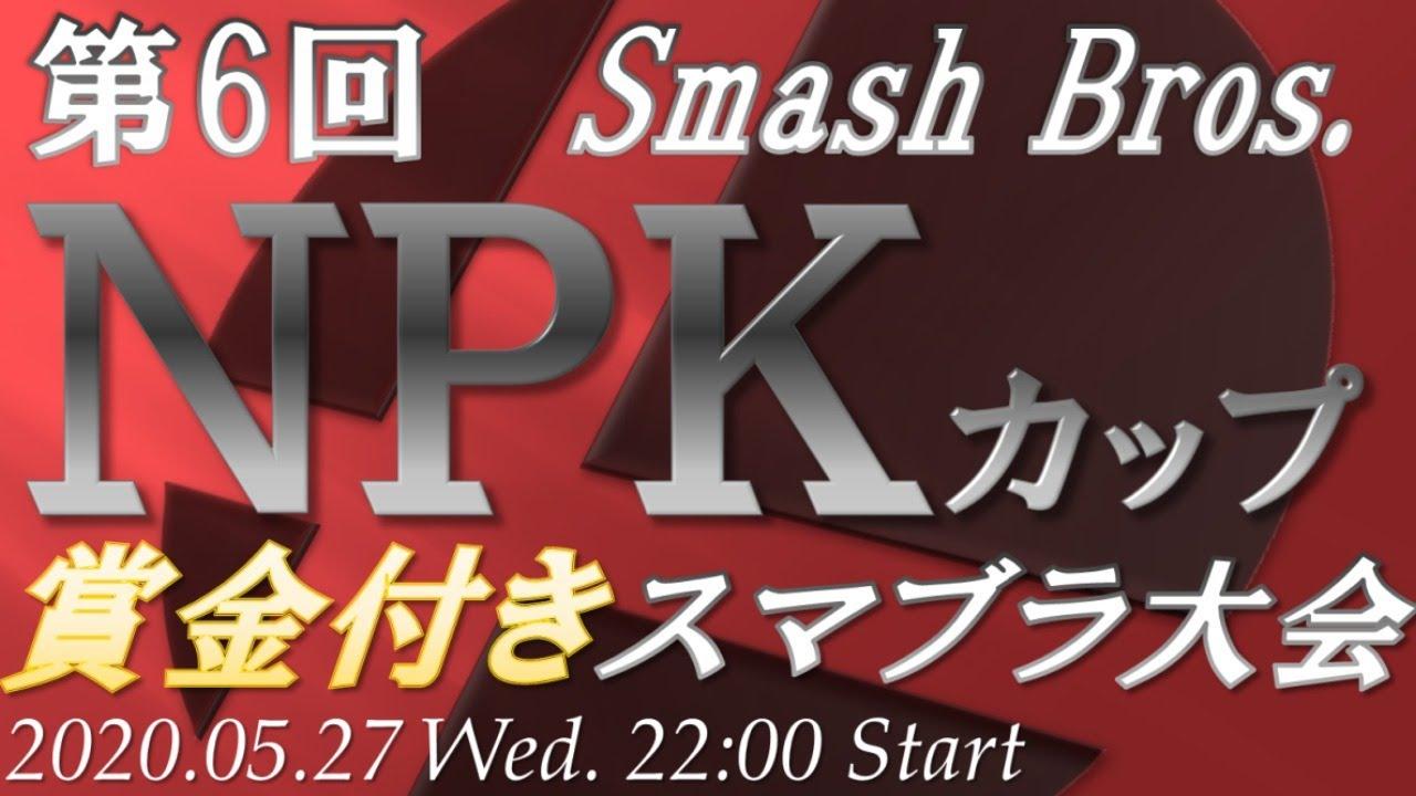 【スマブラSP】第6回スマブラNPKカップ【賞金付きオンライン大会】