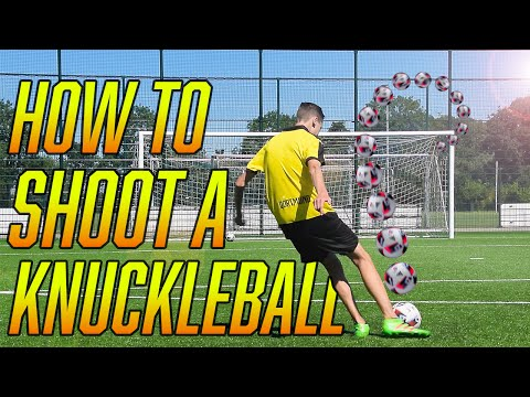 How to shoot a KNUCKLEBALL in football/soccer | Tutorial | HD