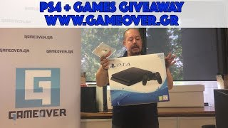 PS4 + Games Giveaway - Διαγωνισμός στο GameOver.gr