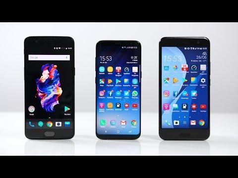 OnePlus 5 vs. Samsung Galaxy S8 vs. HTC U11: Benchmark   SwagTab