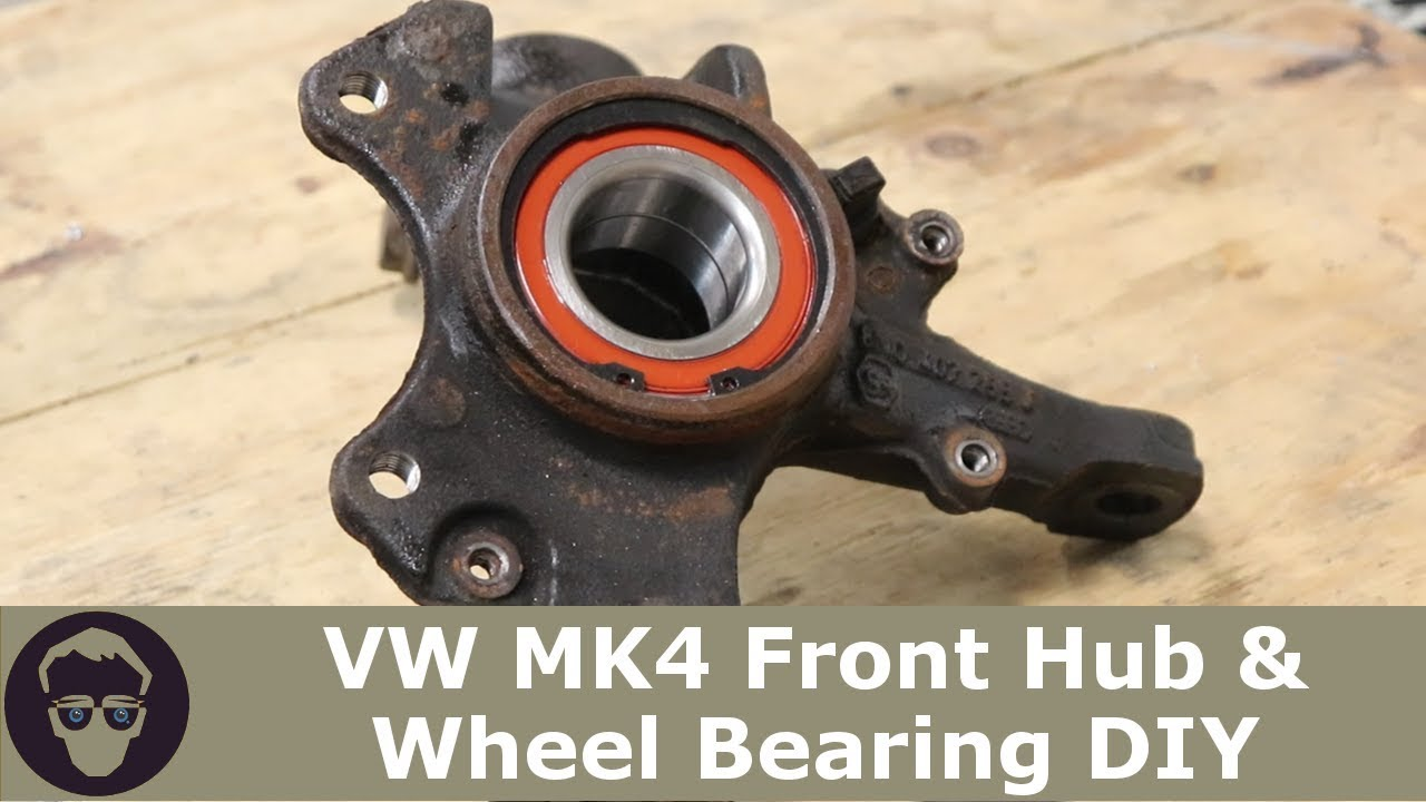 Vw Replace Front Wheel Bearing Hub On Gti Golf Jetta R32 Youtube