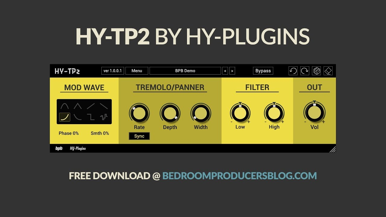 HY-TP2 by HY-Plugins (FREE tremolo VST/AU plugin)