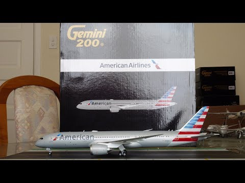 Gemini Jets 1:200 American Airlines 787-9 Dreamliner Unboxing And Review [4K]
