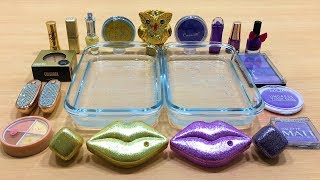 purple-vs-gold-mixing-makeup-eyeshadow-into-clear-slime-special-series-52-satisfying-slime-video