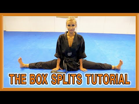 Stretching for the Box Splits (Middle Splits) | Kick Chick Tutorial