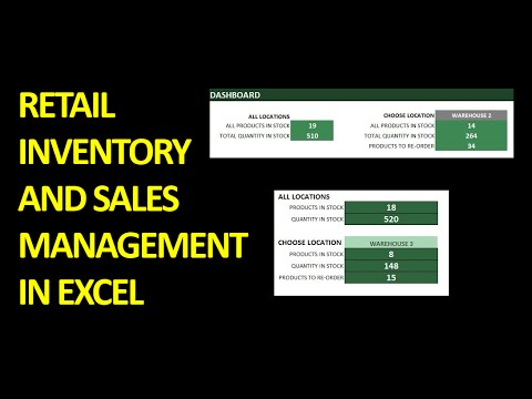 Retail Inventory and Sales Manager Overview