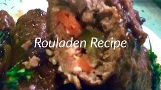 Rouladen Recipe Red Wine Sauce Gravy, Beef, Bacon, Tarragon Mustard