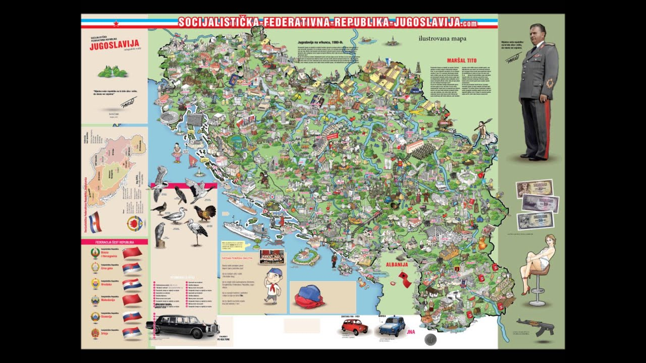 Karta Yugoslavia.Sfrj An Illustrated Map The Making Of By The Author Youtube