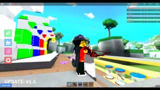 Buying the rainbow upgrader. Roblox