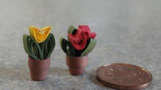 Quilled Miniature Plants:  Teeny Tiny Tulips