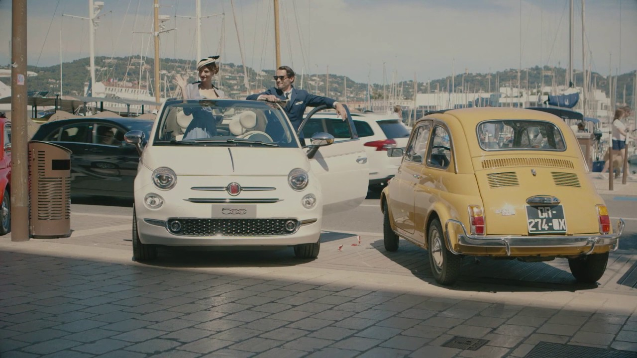 fiat 500 forever young tour in cannes cote d azur youtube. Black Bedroom Furniture Sets. Home Design Ideas