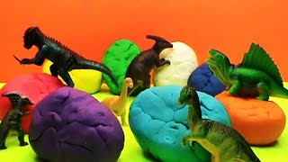 Dinosaurs Play Doh unboxing surprise eggs toys