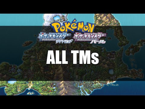 Pokemon Diamond & Pearl | All TMs Locations