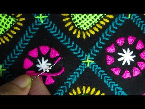 Hand Embroidery; Chadar Embroidery/Phulkari Dopatta/Nakshi Kantha