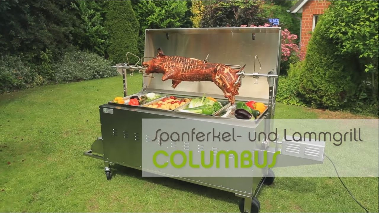 tepro spanferkel lamm und h hnchengrill columbus youtube. Black Bedroom Furniture Sets. Home Design Ideas