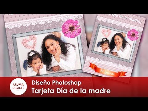 Photoshop Especial 2016 Dia de la madre Tarjeta sencilla