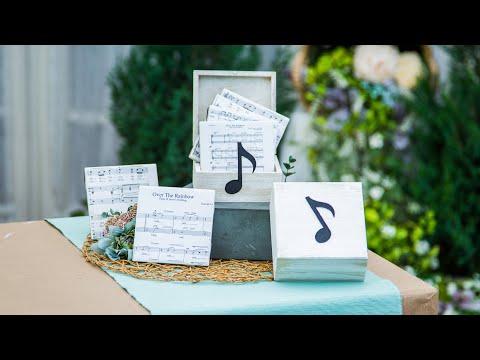 DIY Sheet Music Coasters - Home & Family