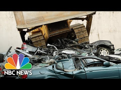 Luxury Cars Worth More Than $1M Crushed By Bulldozer | NBC News
