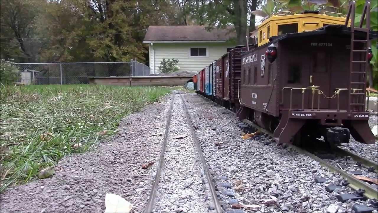 G scale train cab ride around the garden railroad 102613 YouTube