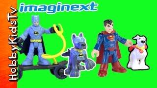 Super Dogs Imagnext Batman Superman Joker Ace Krypto Toy Review By Hobbykidstv