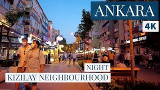 ANKARA Kızılay  Night Walking Tour In The Beating Heart Of The City 2August 2021 4k UHD 60fps