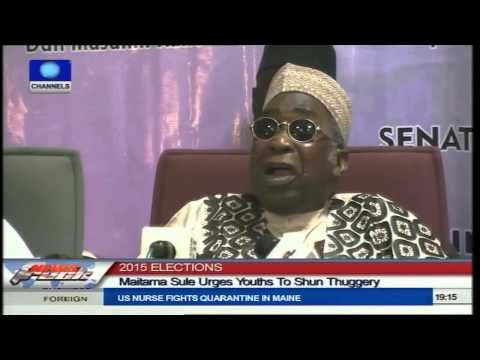 Maitama Sule Urges Youths To Shun Thuggery Ahead Of 2015 Polls