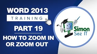 Word 2013 for Beginners Part 19: How to Zoom In or Out of a Word Document