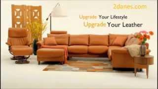 Ekornes Stressless Sale  Leather Upgrade - 2 Danes Furniture