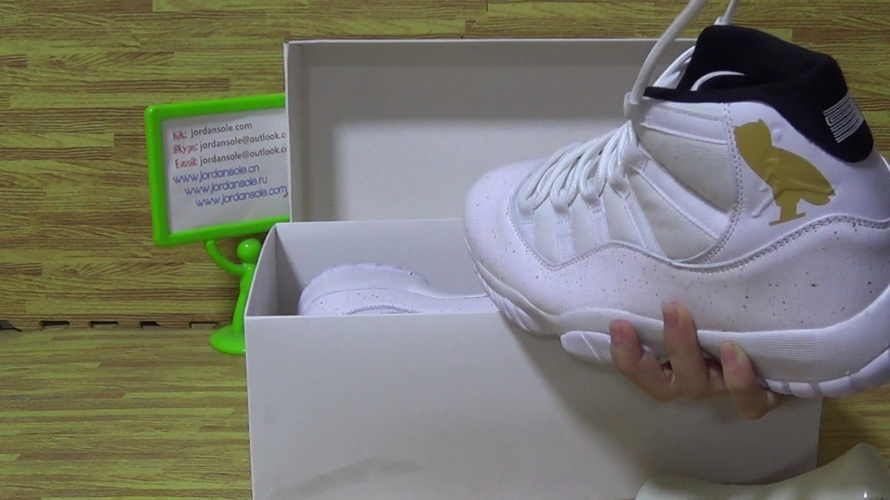 024f909d3d0021 Authentic Air Jordan 11 OVO White from jordansole - YouTube