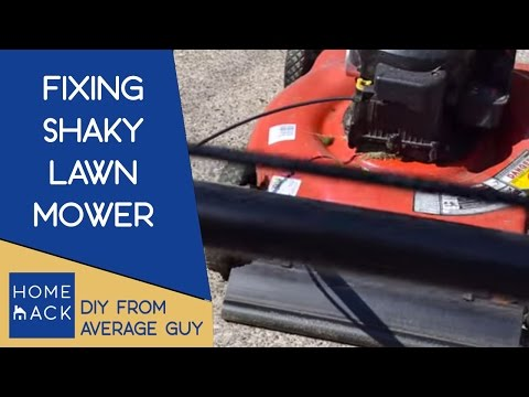 Lawnmower shakes and rattles | Fix for lawnmower with heavy vibrations