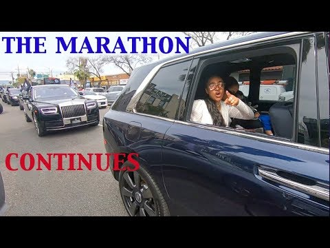 Nipsey Hussle funeral procession leaves Staples Center. I couldn't keep up on my BMX bike.