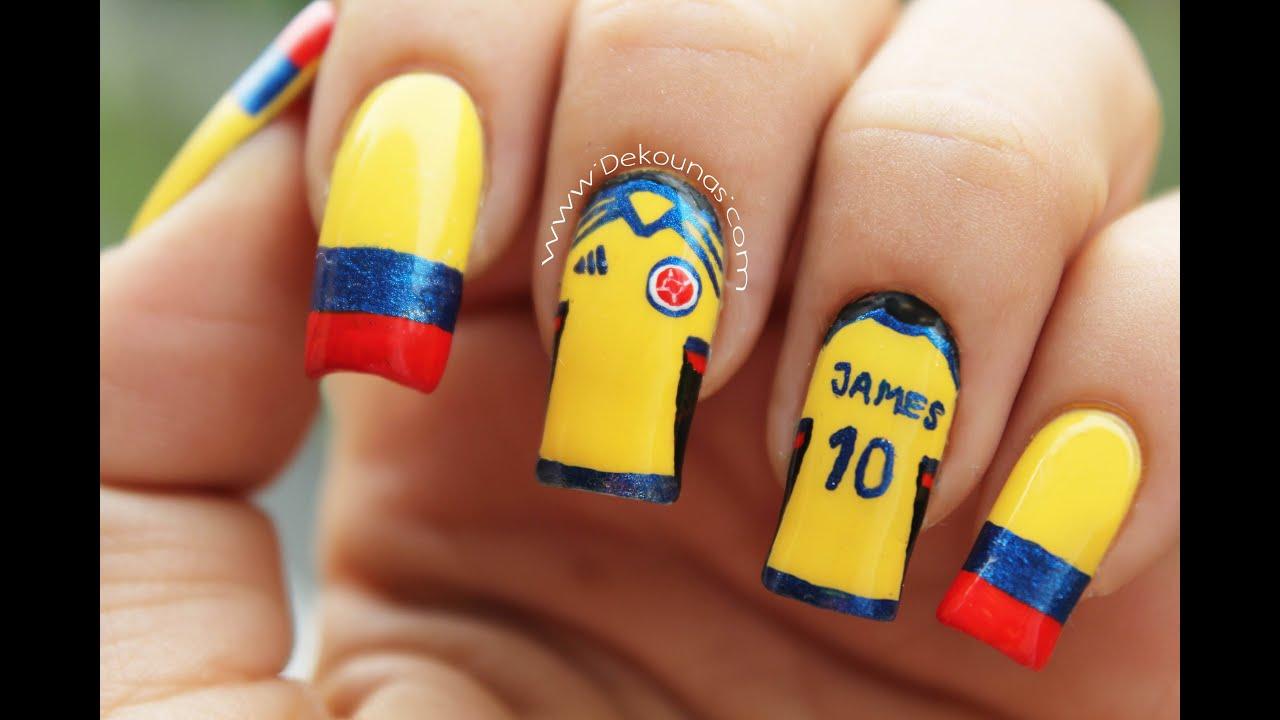 Decoración De Uñas Colombia Colombia Nail Art Youtube