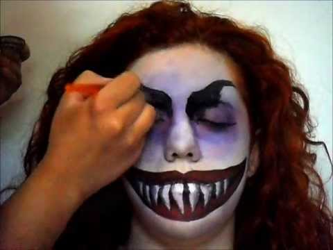 creepy monster halloween face painting
