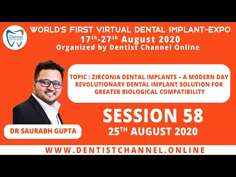 Zirconia Dental Implants – A Modern Day Revolutionary Dental Implant Solutions | Session 58