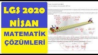 Nisan Ayı Örnek Matematik Soru Çözümleri 2020 LGS