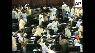 India - Political debate ends in punch up