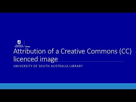 Attribution of a Creative Commons licenced image