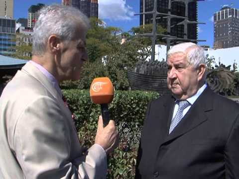 Interview with Syria's FM Walid Al Muallem 28 Sep 13