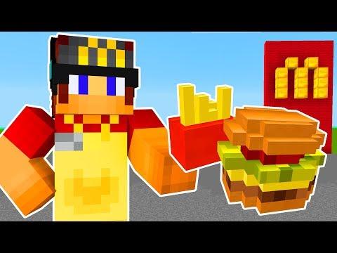 Minecraft: TRABALHANDO NO MCDONALDS MINECRAFT !!