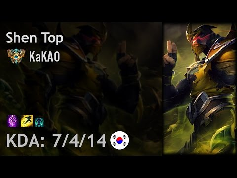 Shen Top vs Jayce - KaKAO - KR Challenger Patch 6.23