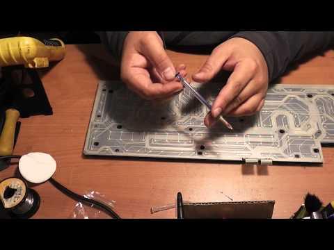 Ремонт клавиатуры ROCCAT ROC-12-804 - Обзор Электропроводящий лак.