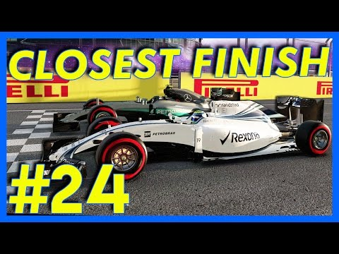 F1 2016 Career Mode : CLOSEST FINISH EVER!! (Part 24)