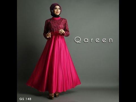 Baju Muslim Wanita Bahan Satin Terbaru Cantik Dan Elegan Youtube