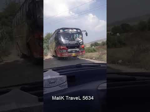 Malik Travel 5634 going to IslamAbad from Anga   On the route transport