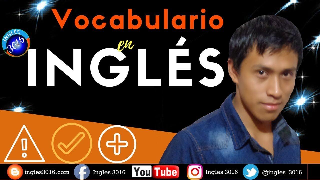 VOCABULARIO EN INGLES 😇😀😍Aprende ingles gratis con este Curso de ingles/VOCABULARIO EN INGLES #2