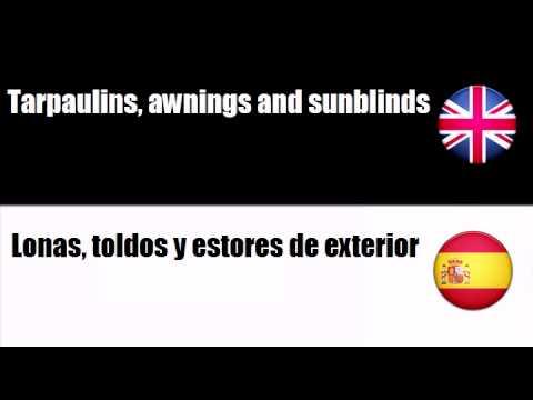 ENGLISH SPANISH   Soft furnishings