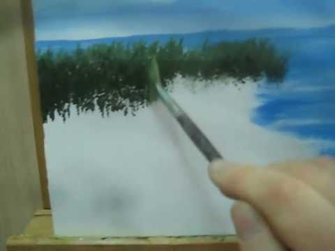 Paint bushes how to paint with a fan brush youtube for Acrylic brush techniques