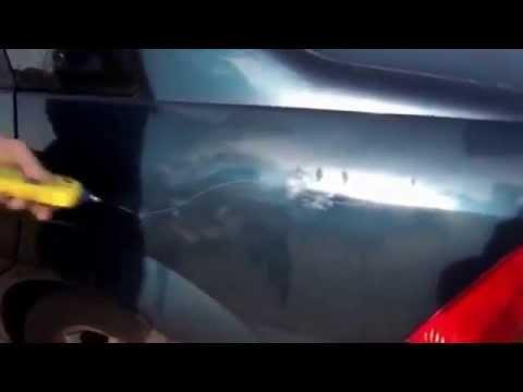 Angry grandpa spray paint car