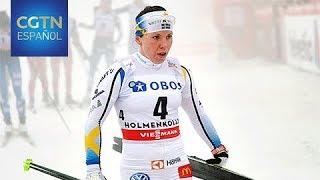Suecia asegura su primer oro por mediación de Charlotte Kalla en skiathlon femenino