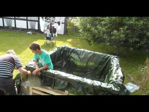 Como hacer una piscina casera de plastico youtube for Como construir una piscina casera